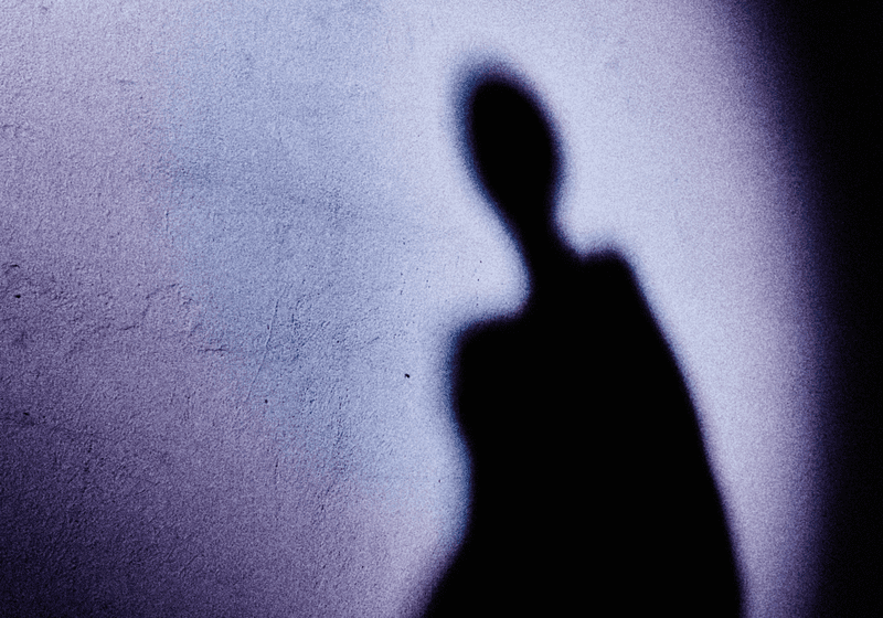 A woman's shadow.