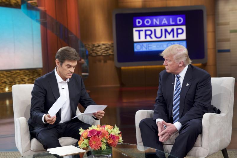 Donald Trump releases medical records for the first time to Dr. Oz on The Dr. Oz Show detailing the results of his most recent physical examination (Air Date: Thursday, September 15, 2016)