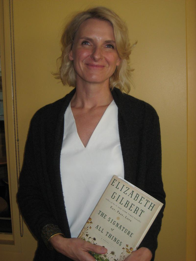 Writer Elizabeth Gilbert in the WNYC studios