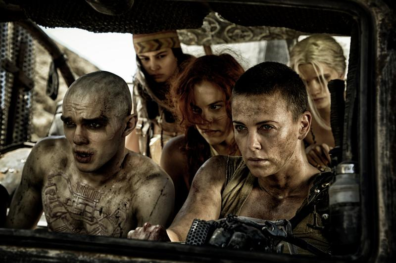"""Imperator Furiosa (Charlize Theron) leads an escape in """"Mad Max: Fury Road"""""""