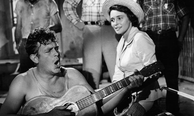 """Andy Griffith and Patricia Neal in Elia Kazan's """"A Face in the Crowd"""""""