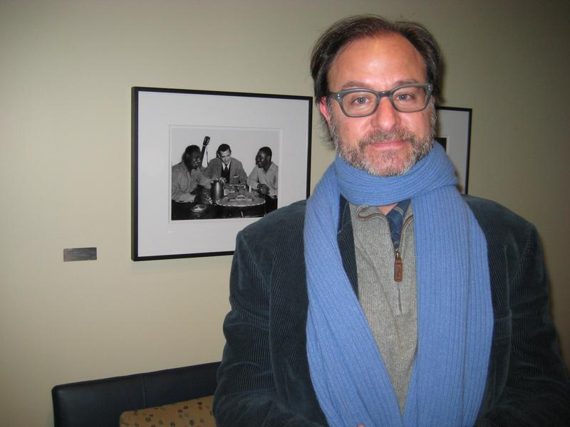 Director Fisher Stevens in the WNYC studios