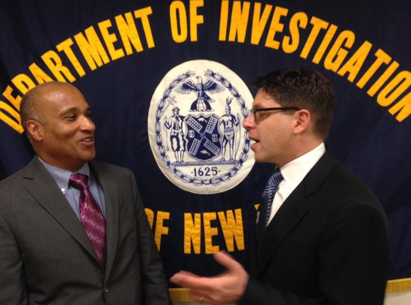NYPD Inspector General Philip Eure and DOI Commissioner Mark Peters