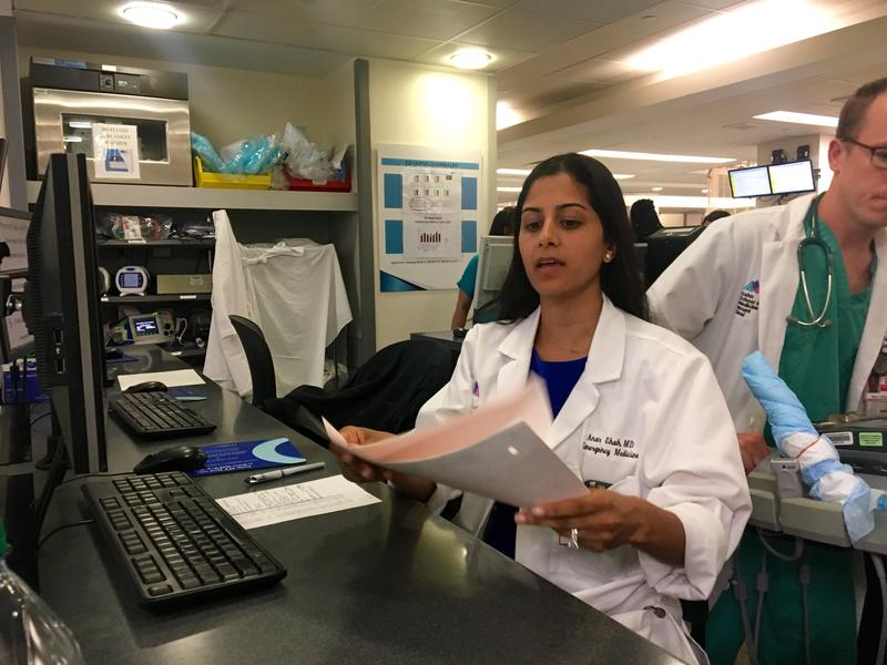 Dr. Anar Shah works in the emergency room at Mount Sinai Hospital in Harlem.