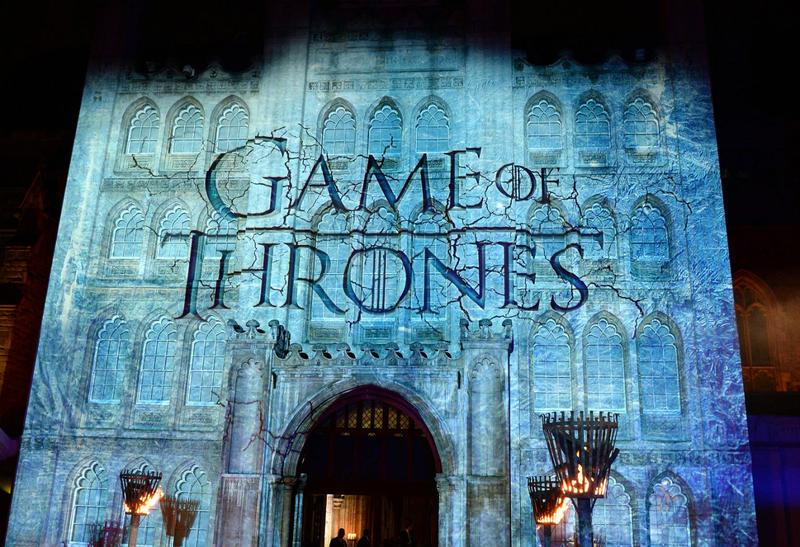 An exterior view of the Guildhall where the Season 4 premiere of 'Game of Thrones' was held on March 25, 2014 in London, England.