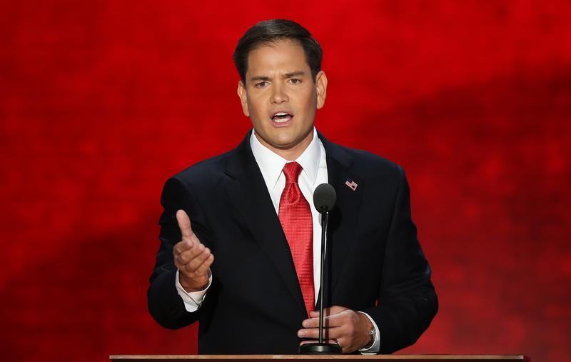 U.S. Senator Marco Rubio (FL) speaks during the final day of the Republican National Convention at the Tampa Bay Times Forum on August 30, 2012 in Tampa, Florida.