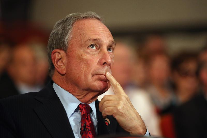 Michael Bloomberg  looks on before delivering his speech to delegates on the last day of the Conservative party conference on October 10, 2012 in Birmingham, England.