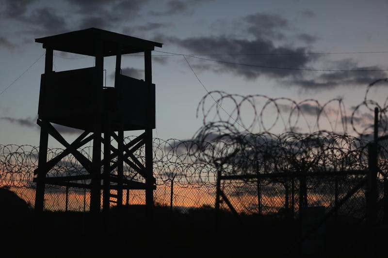 A watch tower is seen in the currently closed Camp X-Ray which was the first detention facility to hold 'enemy combatants' at the U.S. Naval Station on June 27, 2013 in Guantanamo Bay, Cuba.T