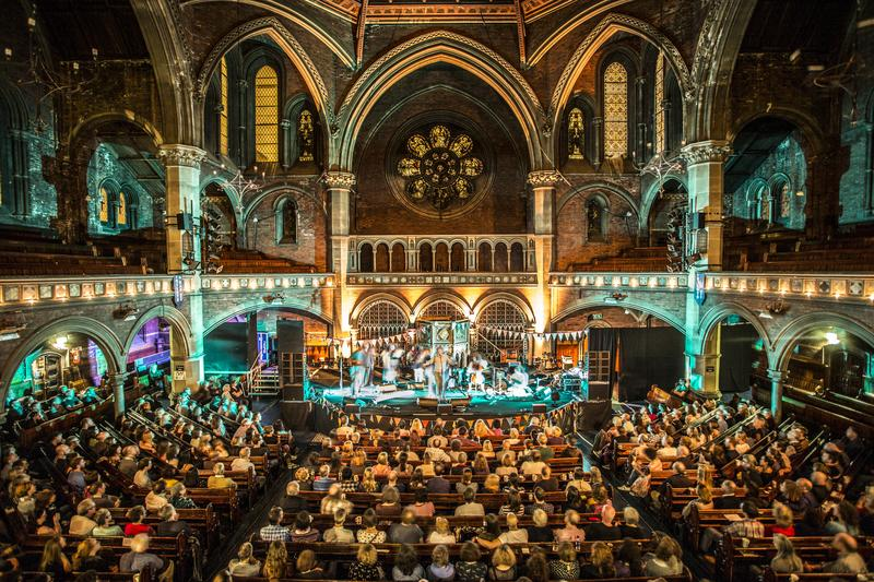 Sam Lee performs at the Union Chapel on October 4, 2013 in London, England.