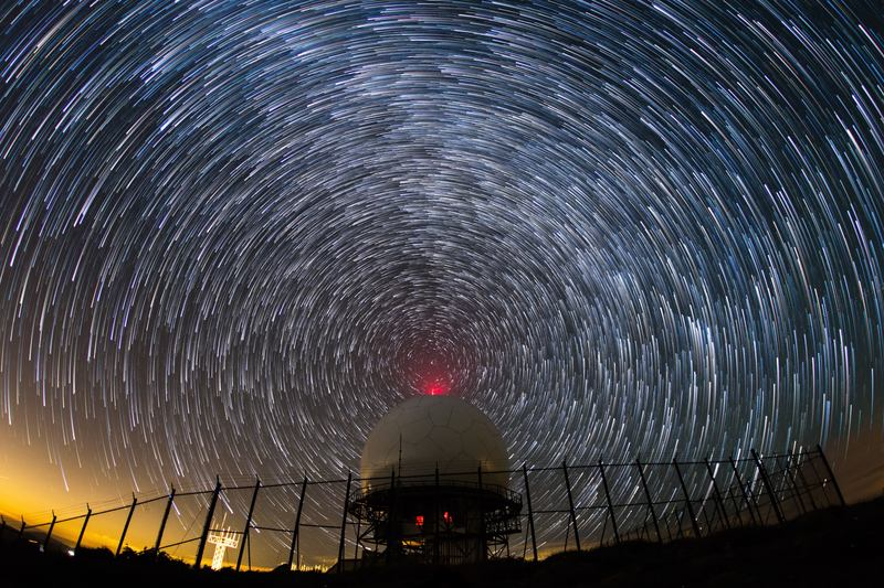 Once radio waves are transmitted from Earth, they travel indefinitely through space.