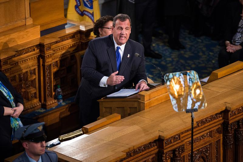 New Jersey Governor Chris Christie gives the annual State of the State address on January 13, 2015 in Trenton, New Jersey.