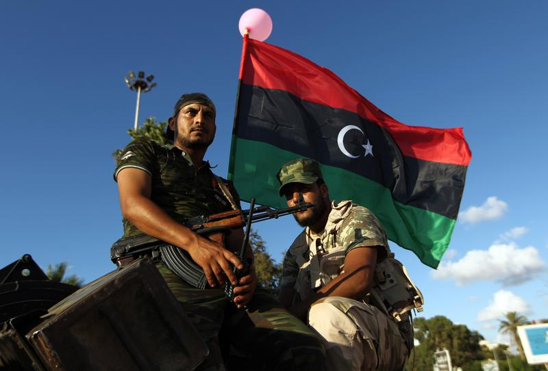 8/14/165: Troops loyal to Khalifa Haftar, former chief of staff to Muammar Qaddafi, during a demonstration calling on the international community to arm the Libyan Army.