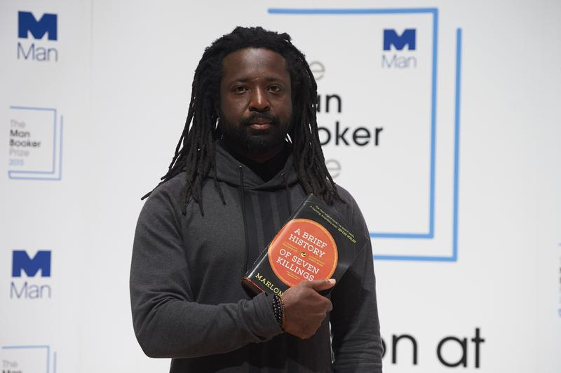 A file photo taken on October 12, 2015, shows Jamaican author Marlon James as he poses for a photograph at a photocall in London ahead of the 2015 Man Booker Prize for Fiction.