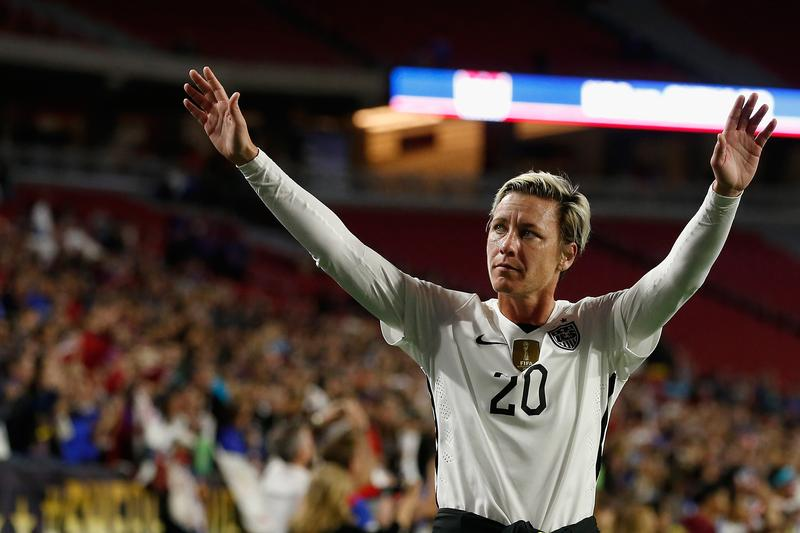 Abby Wambach #20 of the United States waves to fans as she walks off the field following the women's soccer match against China at University of Phoenix Stadium on Dec. 13, 2015 in Glendale, Arizona.