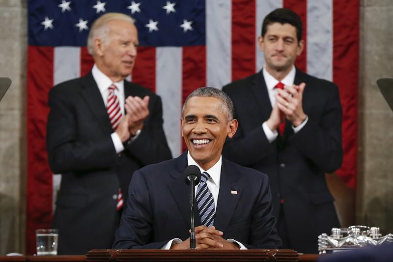 President Barack Obama delivers his State of the Union address before a joint session of Congress on Capitol Hill January 12, 2016 in Washington, D.C.
