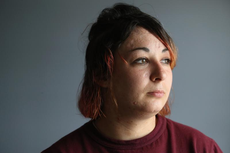 Prison inmate Nicole Powell, 23, from Bristol, Connecticut poses for a portrait while at the York Community Reintegration Center on May 24, 2016 in Niantic, Connecticut.