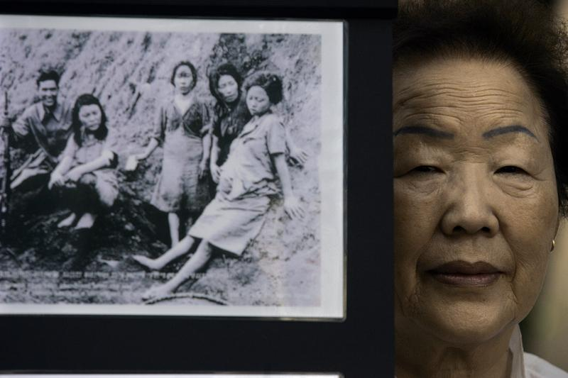 Former comfort woman Yong–Soo Lee, pictured here July 14, 2007, was forced into sex slavery during WWII.