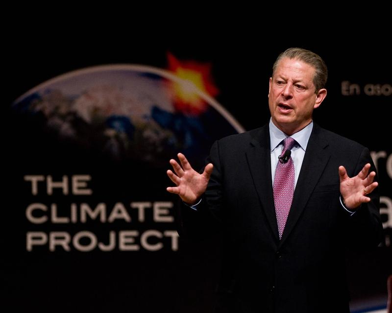 Former US Vice President Al Gore speaks during the conference 'The Climate Project' in Mexico City, on September 29, 2009.