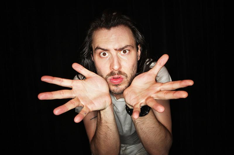 Andrew W.K. poses for a portrait backstage after his performance at Joe's Pub on October 2, 2009 in New York City.