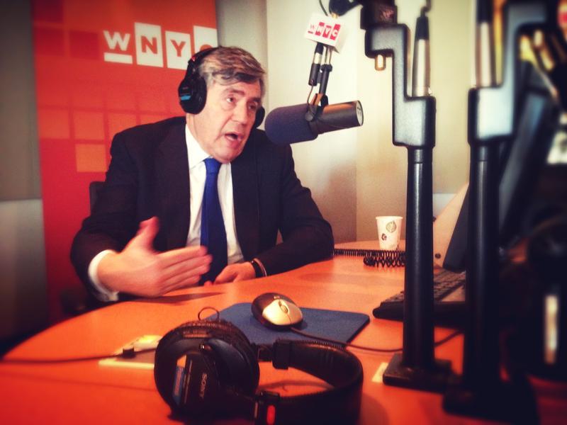 Former UK Prime Minister Gordon Brown in the WNYC Studios