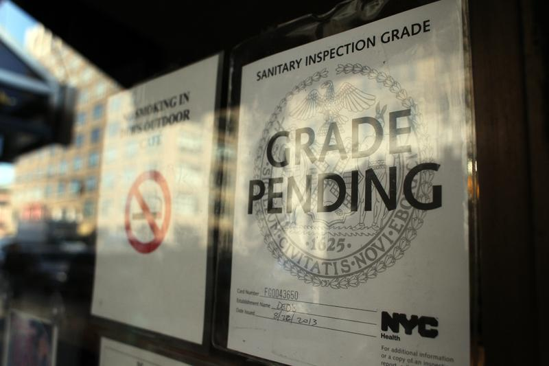 Grade pending sign from Department of Health.
