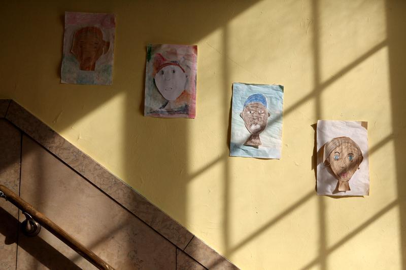 Hallway at Icahn Charter School 7 in the Bronx.