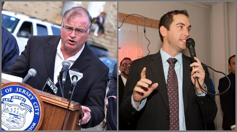 Jerramiah Healy, Mayor of Jersey City, and Steven Fulop, Ward E Councilman, candidates for mayor in Jersey City