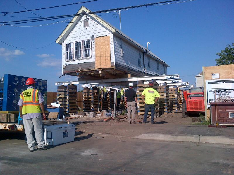 The first home, in Edgemere section of the Rockaways, elevated by the city through the Build it Back program. The city expects to elevate 5,000 homes to make them more resilient to rising waters.