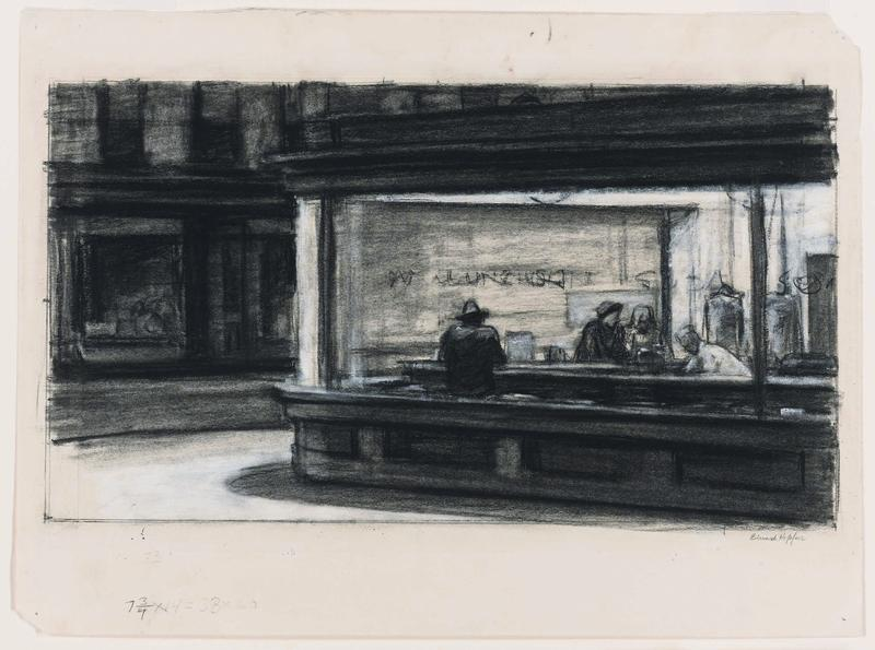 Study for Nighthawks, 1941 or 1942