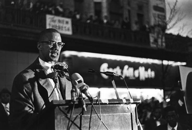 Malcolm X in Harlem in the early 1960s