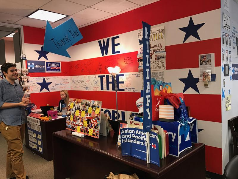 Inside Hillary Clinton's Brooklyn campaign headquarters.