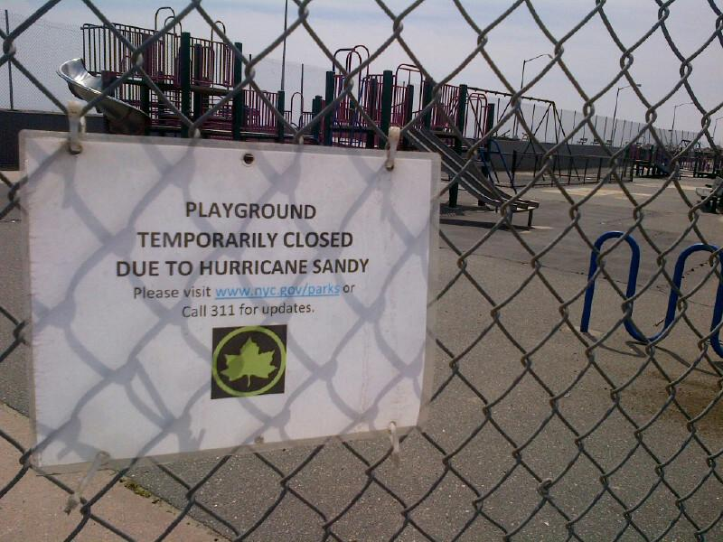 Several playgrounds with little visible damage remain closed in the Rockaways six months after Sandy.