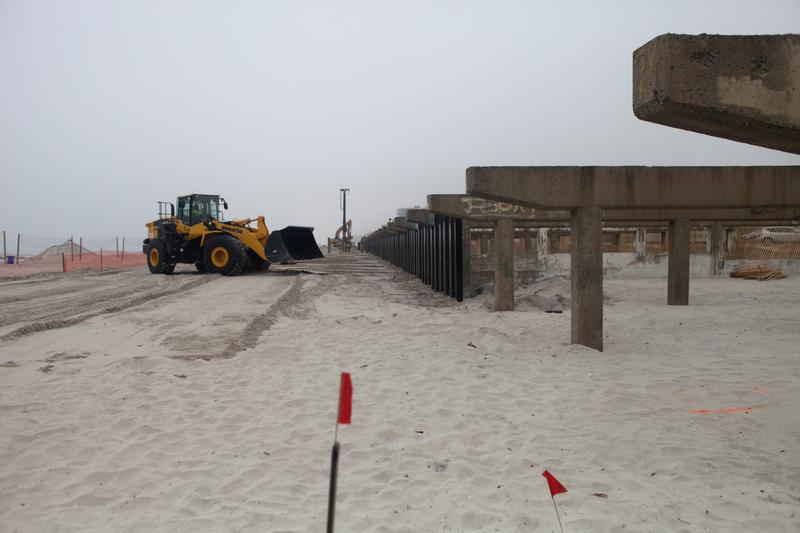 The Long Beach boardwalk is not quite ready for prime time, but the volleyball nets are up and the beach is open.