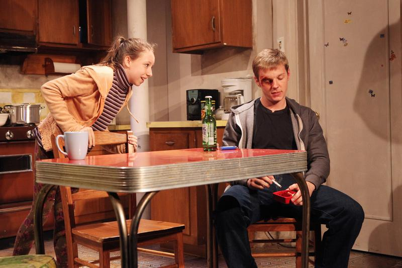 """Izzy Hanson-Johnston and Will Pullen onstage in """"Scarcity"""""""