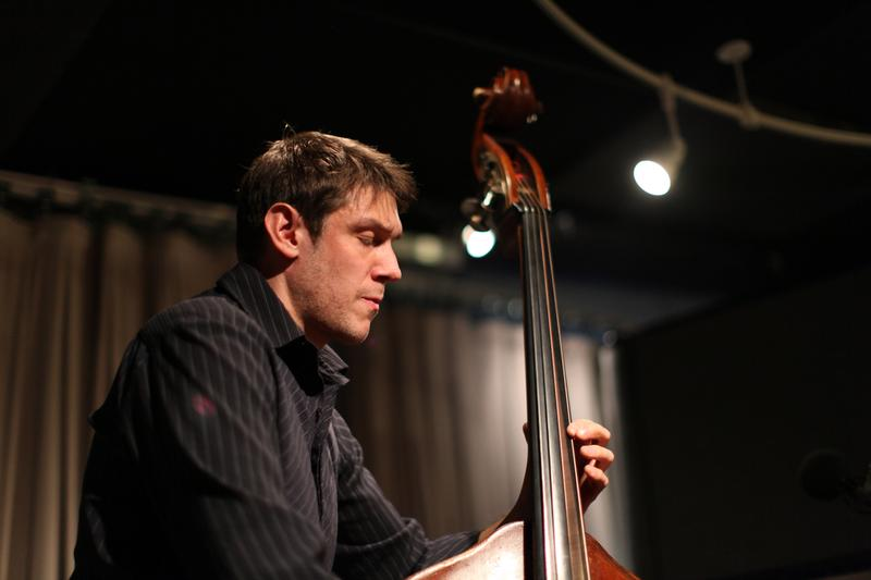 Bassist Ben Allison performs in the Soundcheck studio.