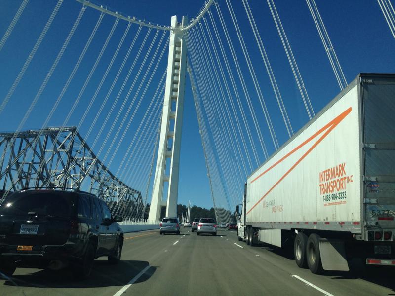 Driving across the $6.4 billion Bay Bridge