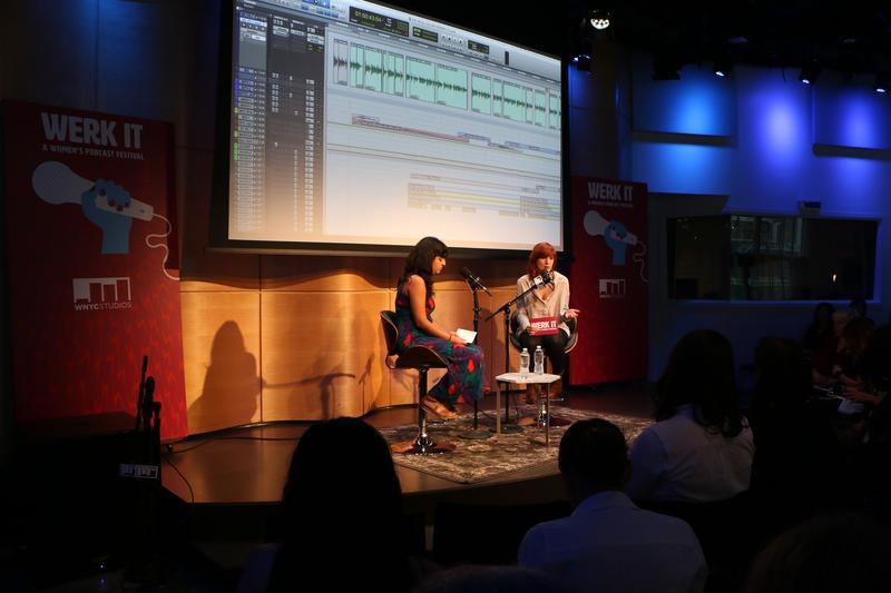 Mitra Kaboli and KAte Bilinski discuss sound design at the Werk It festival