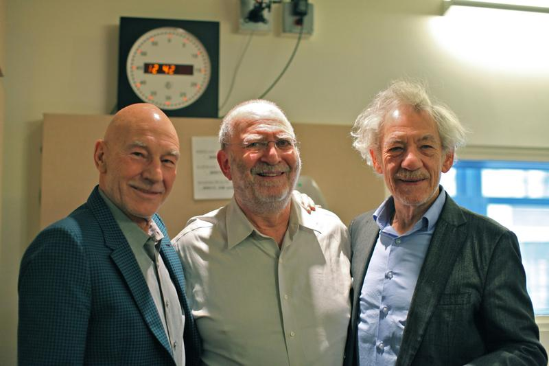 Sir Patrick Stewart and Ian McKellen with Leonard Lopate