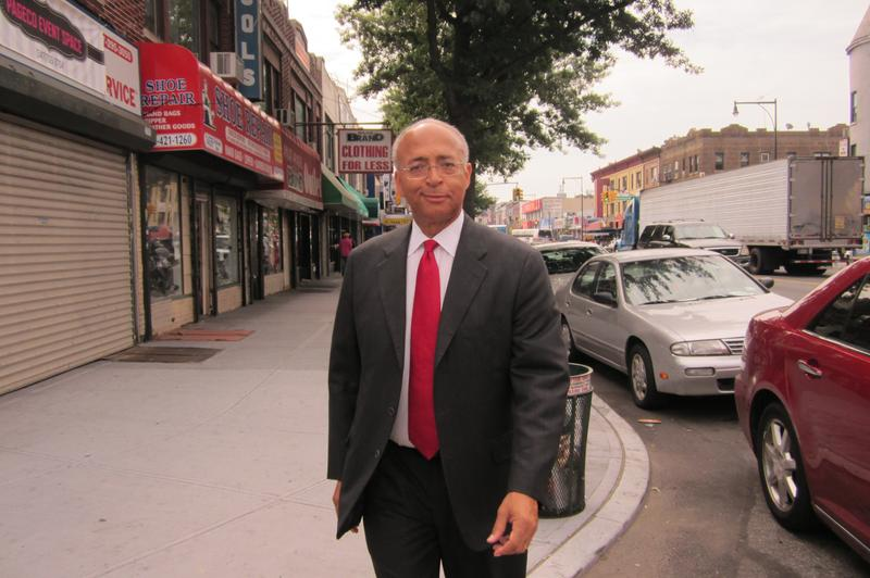 Mayoral candidate Bill Thompson in Brooklyn