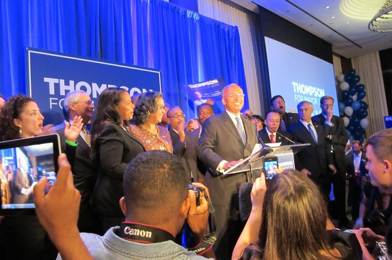 Bill Thompson on primary night, 2013