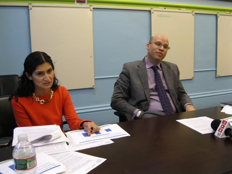 Chief Academic Officer Shael Polakow-Suransky with Simone D'Souza Executive Director, Office of Research, Accountability and Data