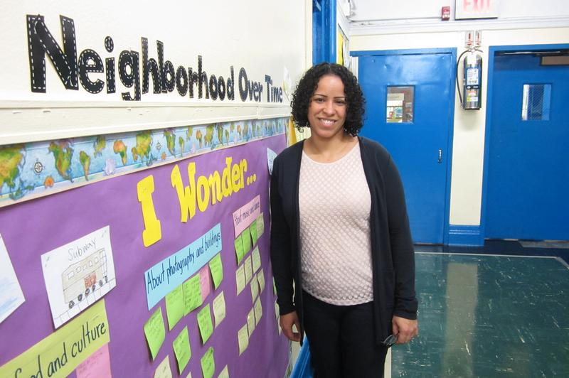 Principal Irene Sanchez at P.S. 15 in the East Village supports a new admissions system because too many of her students are homeless and in poverty