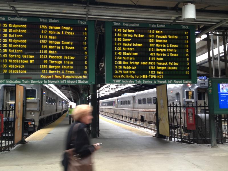 Where NJ Transit (and some Metro North) trains board