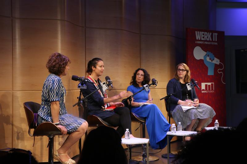 From left, Hanna Rosin, Francesca Panetta, Maria Hinojosa and Kelly McEvers at the Werk It festival