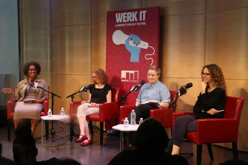 From left, Brittany Luse, Julie Shapiro, Jenna Weiss-Berman and Paula Szuchman at the Werk It festival