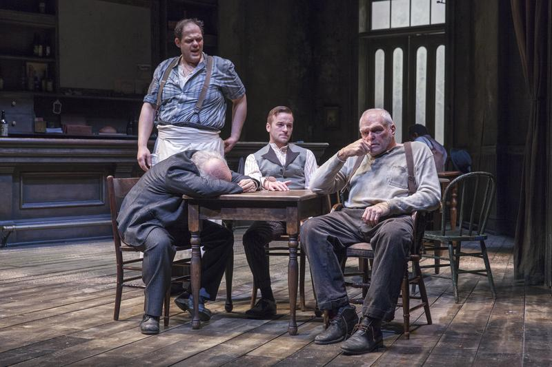 Salvatore Inzerillo (standing), Lee Wilkof, Patrick Andrews and Brian Dennehy in 'The Iceman Cometh.'