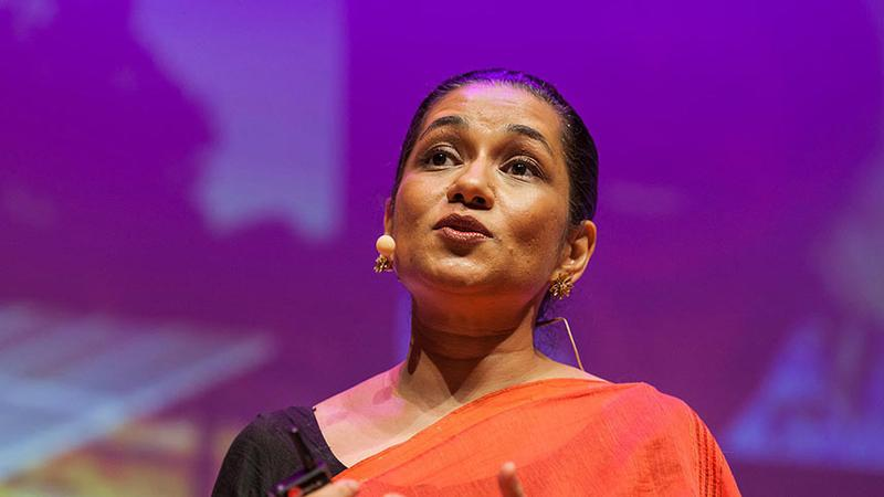 Screen grab from Durreen Shahnaz's TED Talk.