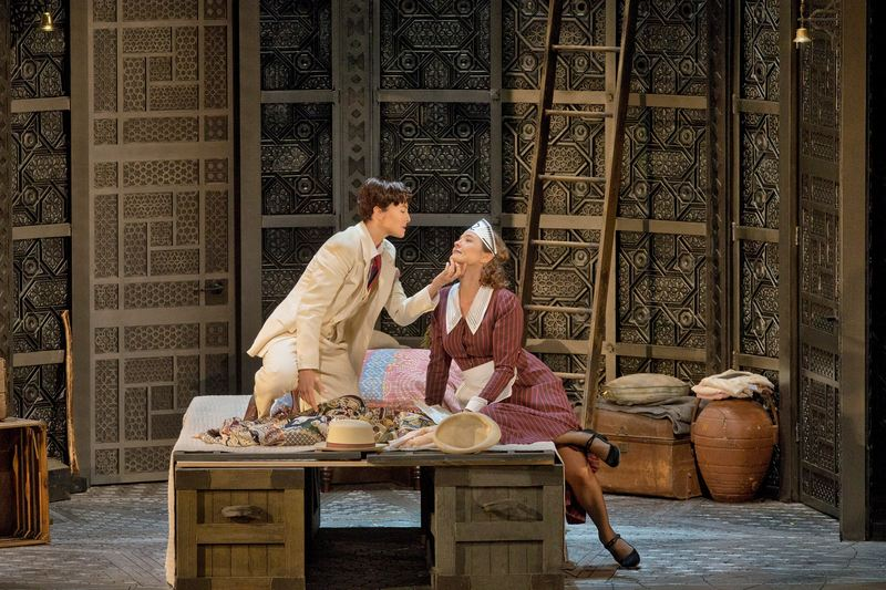 "Isabel Leonard as Cherubino and Marlis Petersen as Susanna in Mozart's ""Le Nozze di Figaro."" Richard Eyre's production of the opera, conducted by James Levine, opened the Met season on Sept 22, 2014"