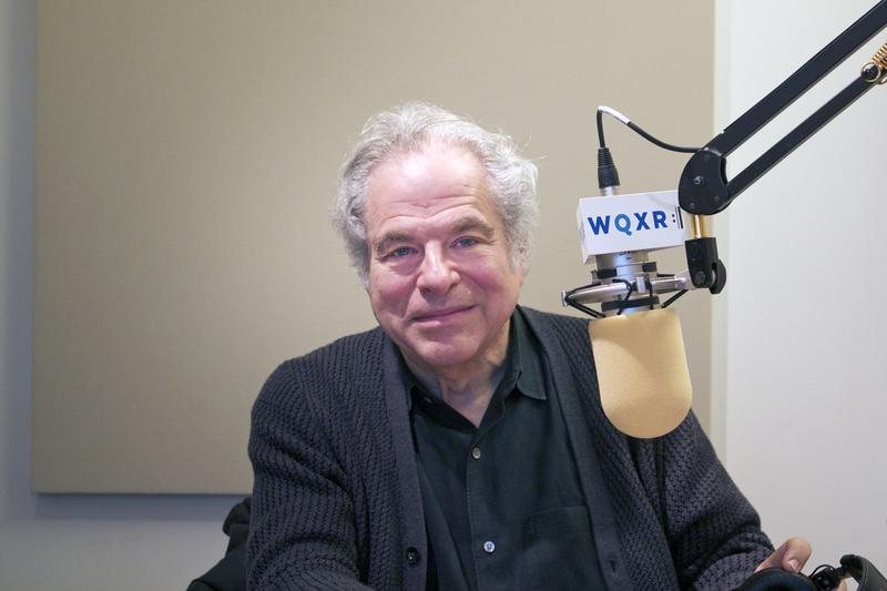 Itzhak Perlman in the WQXR studio.