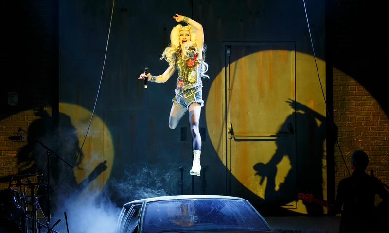 John Cameron Mitchell as Hedwig in the Broadway production of <em>Hedwig and the Angry Inch</em>
